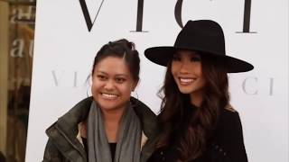 Filming for VICI Fashion Brand MEET+GREET November influencer event with KHANH CAGLEY