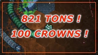 Little Big Snake - NEW HIGHSCORE ! Fled The Arena With 821 Tons & 100 Crowns ! ! ! ! ! Went In Lair