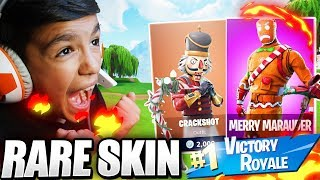 I Surprised My Little 10 Year Old Brother With *RARE* Christmas Skins In Fortnite!