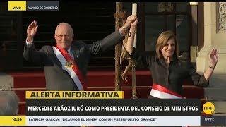 Juramentación del gabinete de Mercedes Aráoz │RPP
