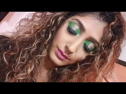 Gold and Green HALO Eyeshadow Tutorial For Beginners thumbnail