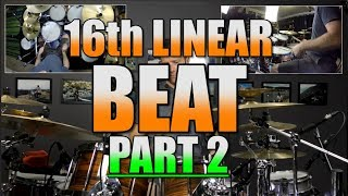 Drum Lessons - 16th Linear Beats Part 2