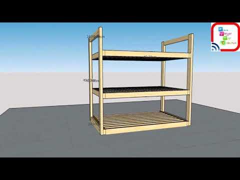 video|rak sepatu|dari kayu