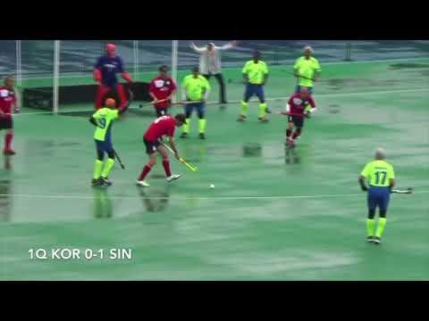 Match No.16『Korea vs singapore』4th Hockey Grand Masters Asian Cup 2017 in Hiroshima
