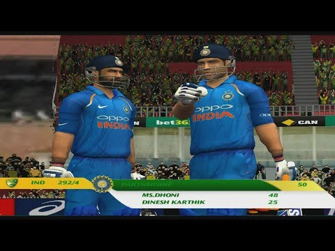 Aus vs Ind 2019 | MS Dhoni and Dinesh Karthik's 57 Runs Partnership | EA Sports Cricket 07