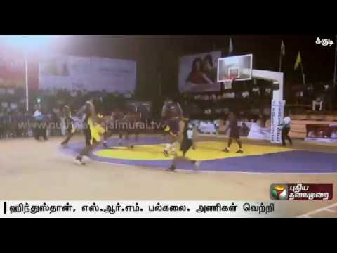 South-India level basketball tournament at Tuticorin; SRM and Hindustan universities post victories