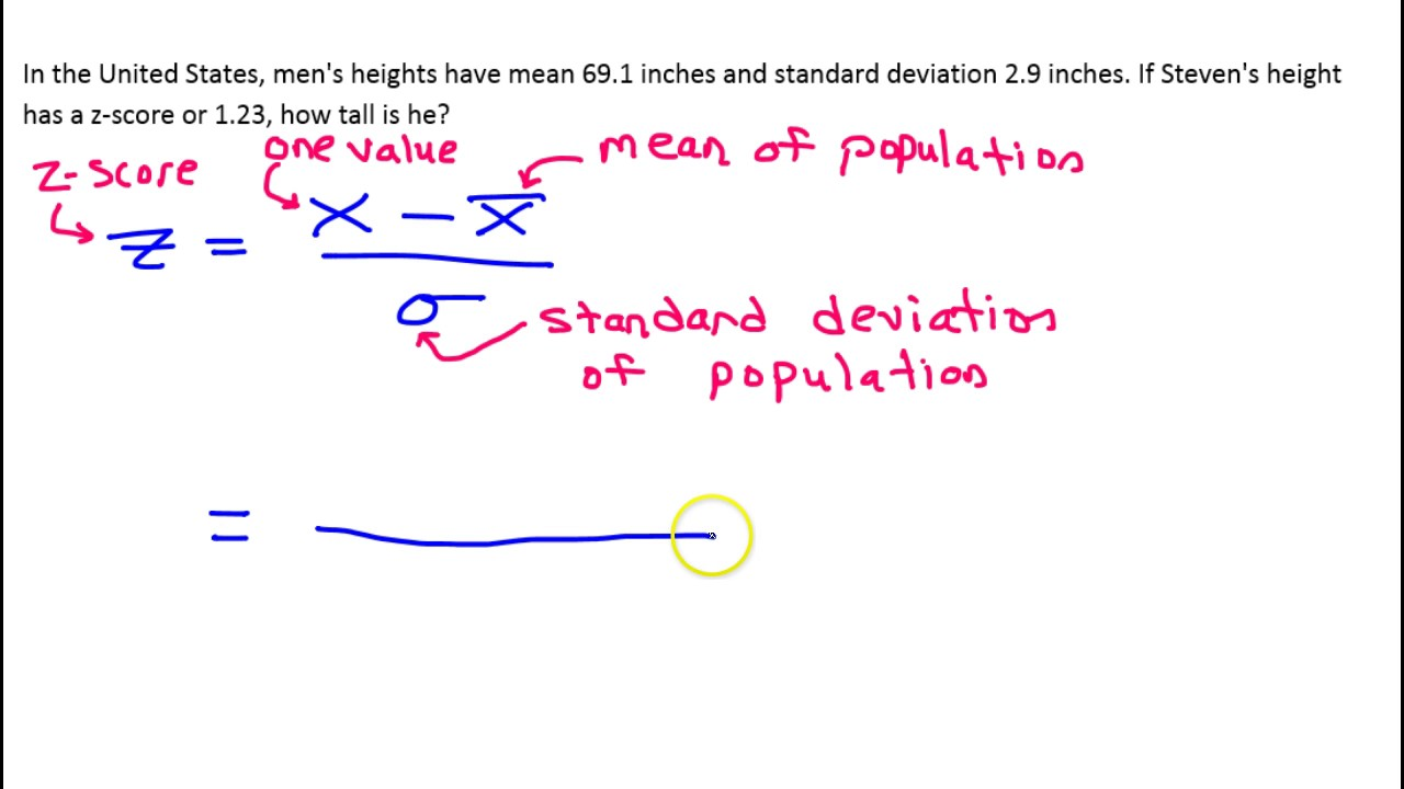 26A How do you find a value given z score, mean and standard deviation
