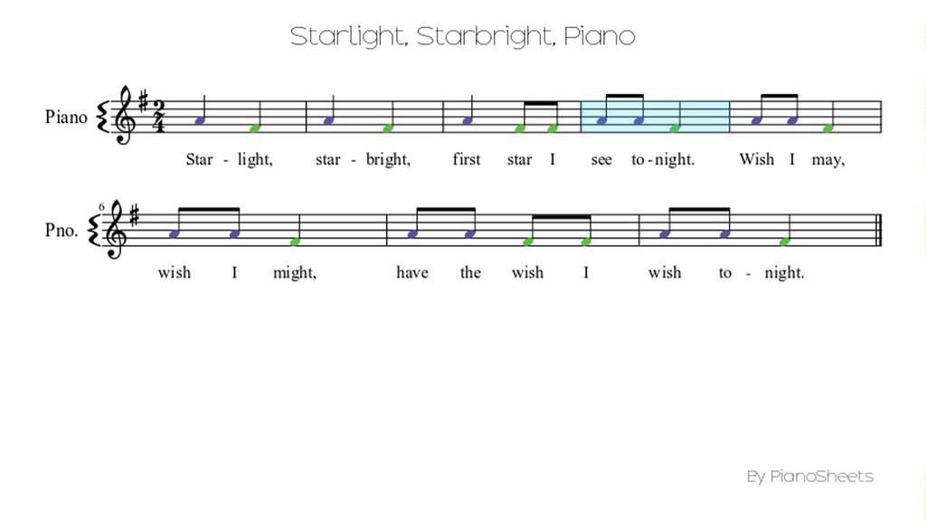 Starlight Starbright Piano Solo Youtube
