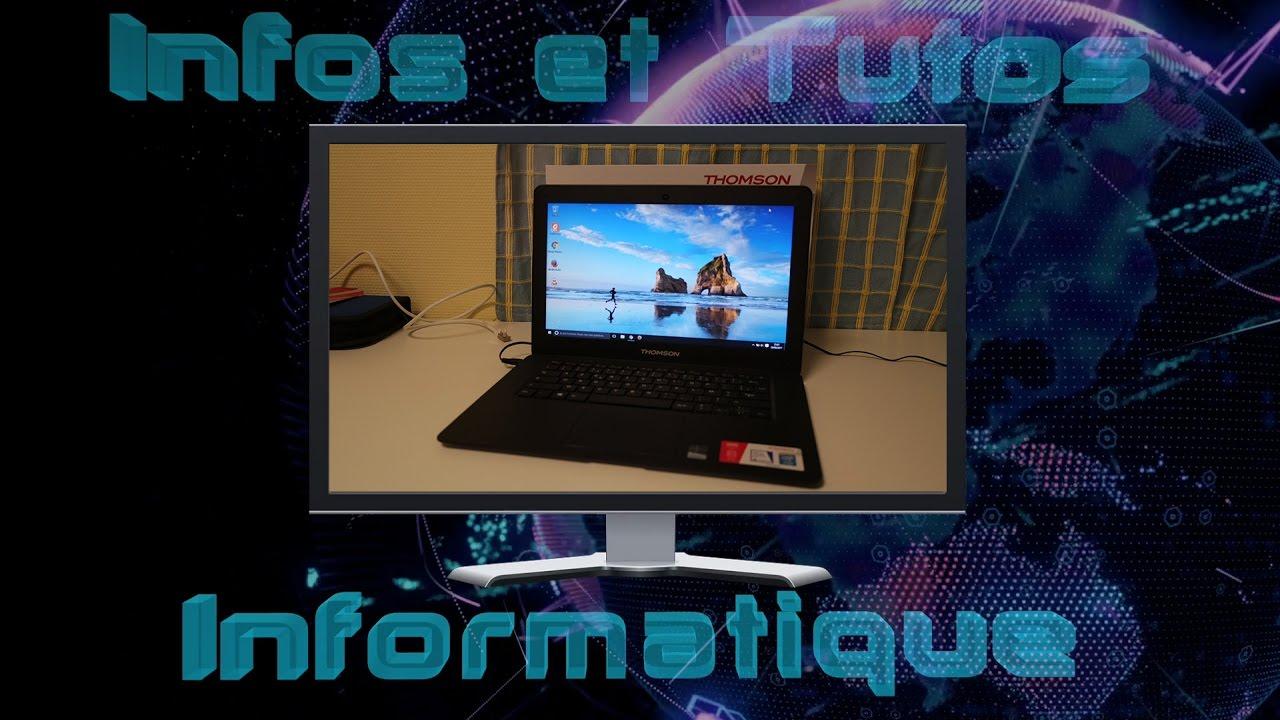 89dcc30b66a5f0 Test du Thomson NEO14-2BK32 un ultra portable low cost - YouTube