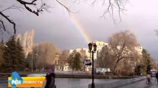 Жители Саратова наблюдали зимнюю двойную радугу