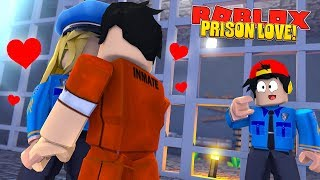 ROBLOX JAIL BREAK - DONUT FALLS IN LOVE WITH A WOMAN PRISON GUARD & USES HER TO ESCAPE!!
