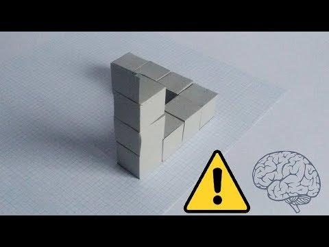 Impossible Triangle Optical Illusion - Penrose Triangle - 3D Trick Art