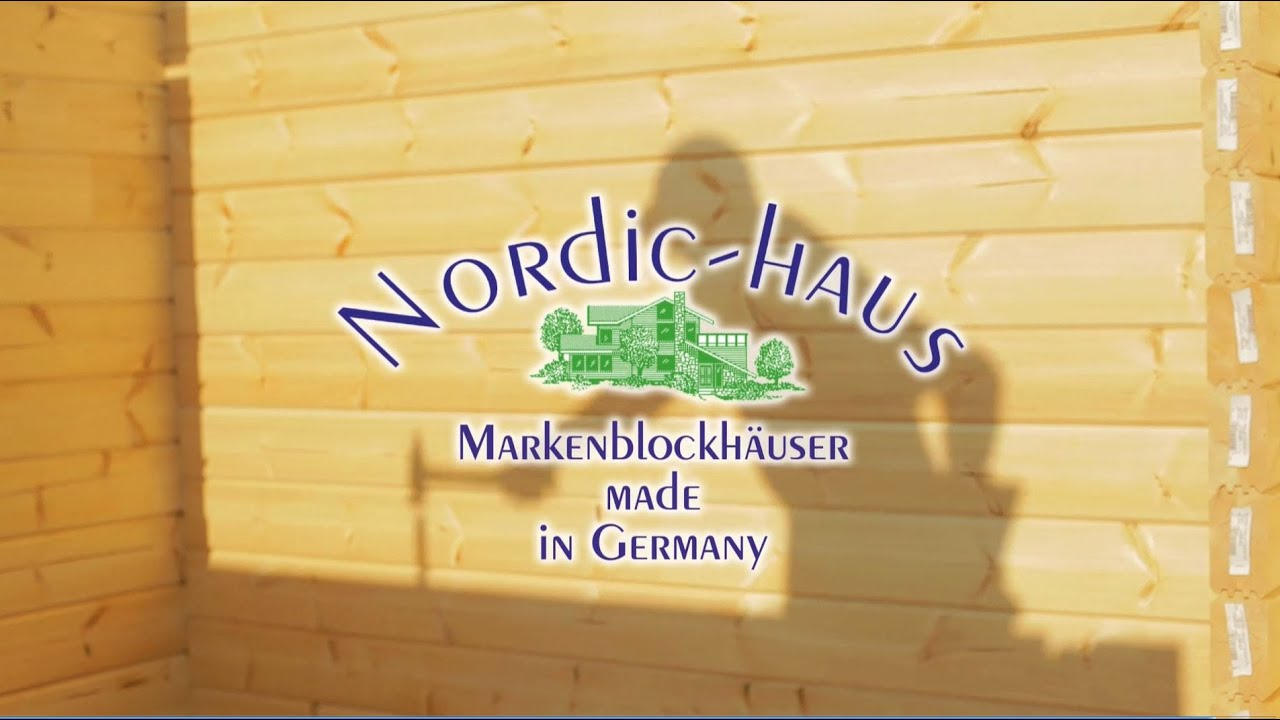 nordic haus ein holzblockhaus f rs leben youtube. Black Bedroom Furniture Sets. Home Design Ideas