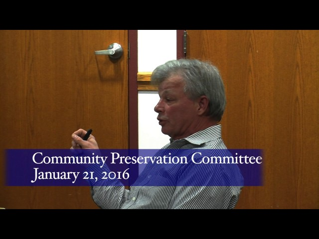 Community Preservation Committee 1/21/16