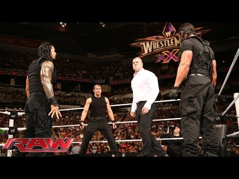 Thumbnail: The Shield Triple Power Bombs Kane: Raw, March 17, 2014
