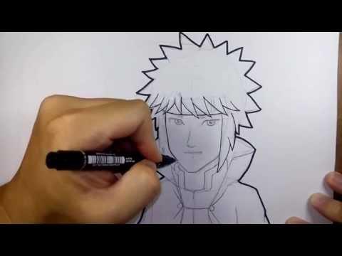 มินาโตะ จาก นินจานารุโตะ วาดการ์ตูน กันเถอะ