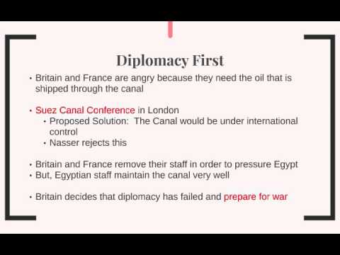 Video 4:  The Suez Crisis, 1956