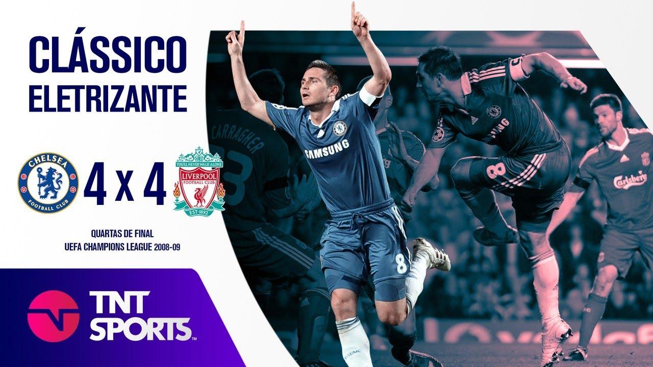QUE JOGO! Chelsea 4 x 4 Liverpool - Melhores Momentos - Quartas de Final da Champions League 2008/09