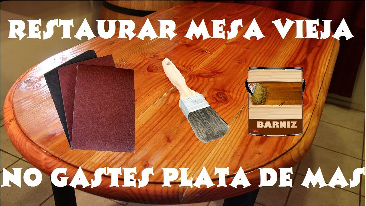 Como restaurar mesa vieja lijado y barnizado youtube for Como barnizar un mueble de madera con brocha