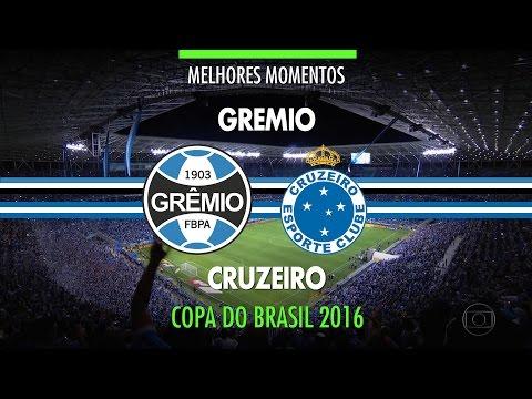 Melhores Momentos - Grêmio 0 x 0 Cruzeiro - Copa do Brasil - 02/11/2016