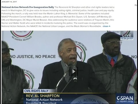 Al Sharpton's National Action Network Pre-Inauguration Rally