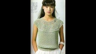 Кофточки Крючком с Круглой Кокеткой - 2019 / Sweatshirts with a Crochet