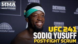 Sodiq Yusuff Felt Like UFC 241 Fight Would Be 'Finish Or Bust' - MMA Fighting