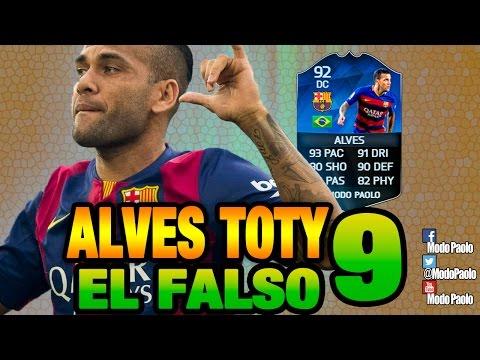 EL FALSO 9   DANI ALVES TOTY DC - ST   FIFA 16   Modo Paolo