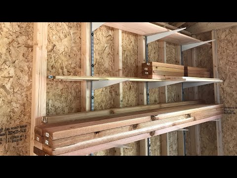Wood & Lumber Storage Shelves For Your Shop