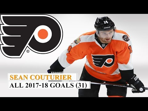 Sean Couturier (#14) All 31 Goals of the 2017-18 NHL Season