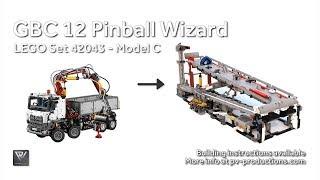 GBC 12 Pinball Wizard + PDF Building Instructions - 42043 C Model Mercedes-Benz Arocs 3245