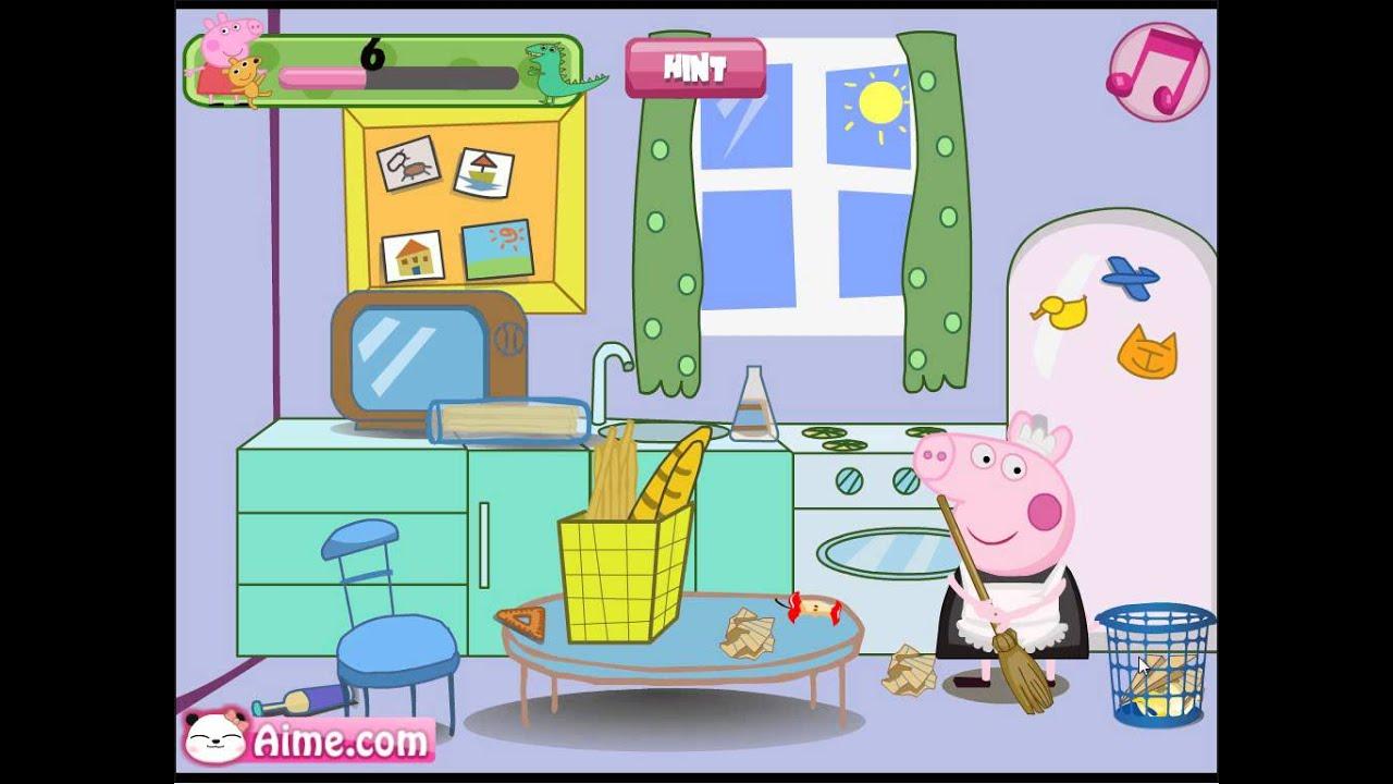 Peppa Pig Clean Room - Browser Online Game