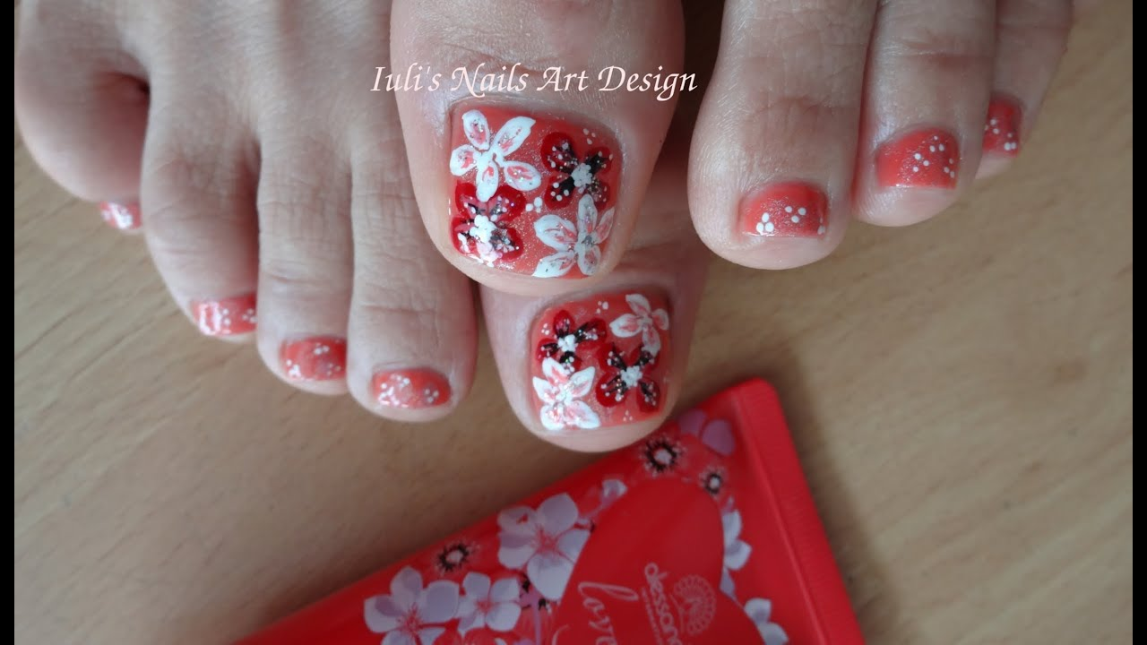 Toes art design spring summer flowers free hand painted beginners toes art design spring summer flowers free hand painted beginners youtube prinsesfo Image collections