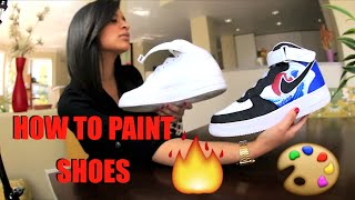 How To Paint Your Shoes Tutorial: Restore And Customize With Angelus Paint! FULL Timelapse