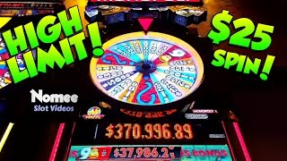 HIGH LIMIT - MONOPOLY MONEY Slot Machine - $25 a Spin!! 🎰💸
