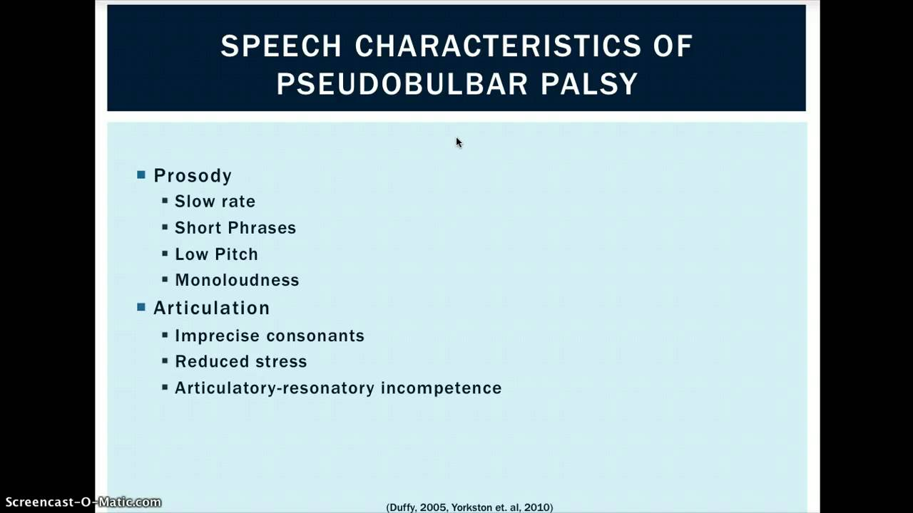 Pseudobulbar palsy - Wikipedia