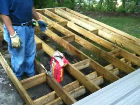 Amazing How To Build A Patio Deck   YouTube
