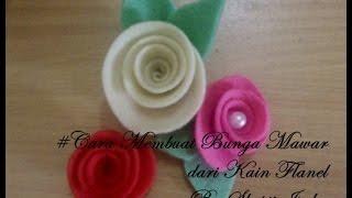 Video yang berisi tutorial cara membuat bunga mawar dengan mudah