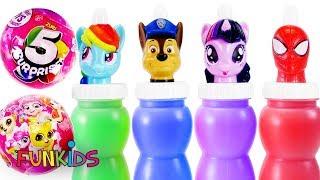 Paw Patrol & Mickey Mouse My little Pony Friends Slime Bottles
