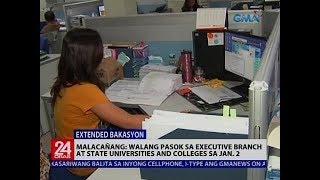 Malacañang: Walang pasok sa Executive Branch at State Universities and Colleges sa Jan. 2