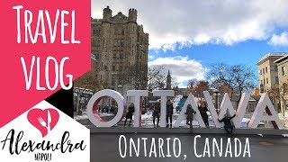 Exploring Ottawa Ontario Canada in the Winter | The Hungry Health Coach Travel Vlog