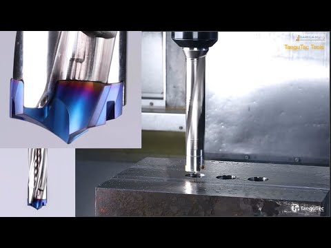 Tool Cutting manufacturing Drilling and Tapping CNC Machine. Tools Deep Drilling machining