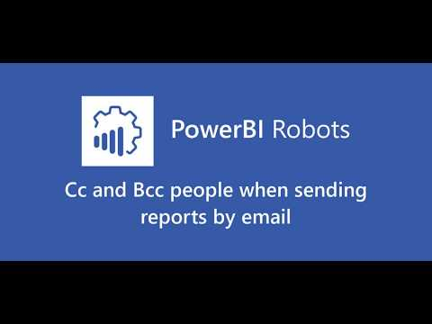 Cc and Bcc people when sending reports by email