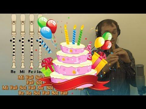 Cumpleaños Feliz (Happy Birthday) en Sol en Flauta Dulce - Con notas explicadas para aprenderla!