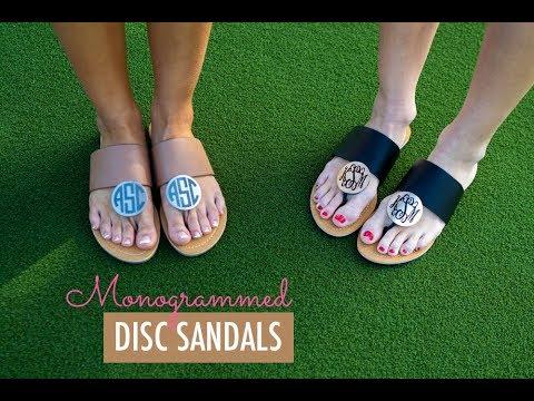 5e51154a1acbb Monogrammed Sandals