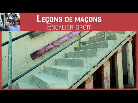 Les Leçons Escalier Droit Agence Qualité Construction