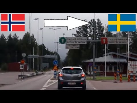 Norway - Sweden / Crossing The Border By Car