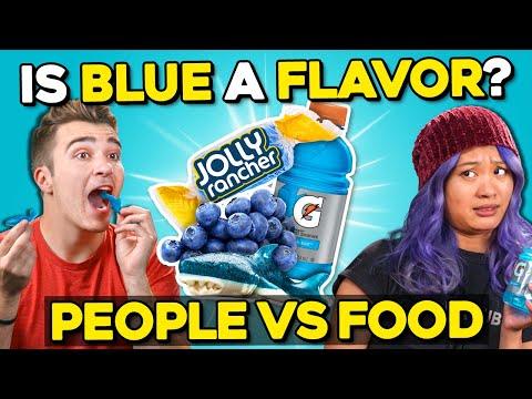 What Does Blue Taste Like?  People Vs Food