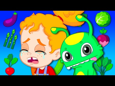 Groovy The Martian loves BROCCOLI for SUPER POWER Full episode! Cartoon for kids & Nursery Rhymes