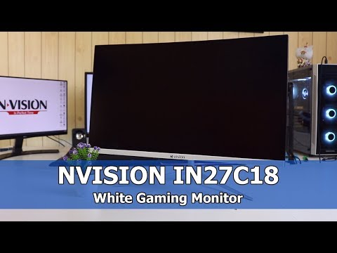 White Gaming Monitor? - NVISION IN27C18 Gaming Monitor Review
